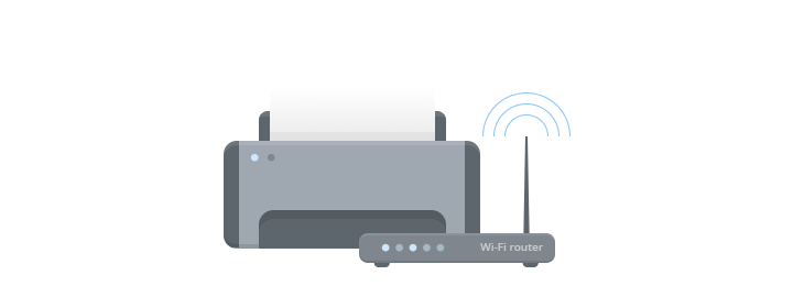 how to connect a printer shared on a router