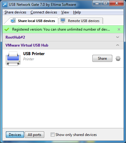 one printer for two computers via usb