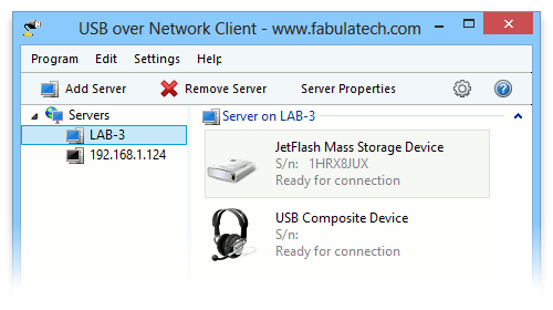 USB over Network by Fabula Tech
