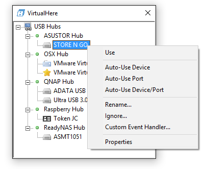 VirtualHere - usb over network software